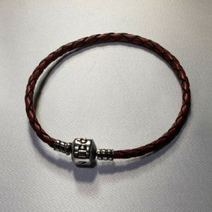 Pandora red leather bracelet